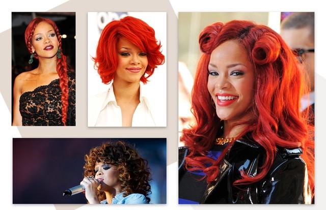 Celebridades usando peruca: Rihanna (Foto: Getty Images)
