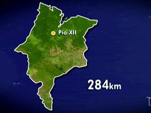 Município fica localizado na região central do Estado (Foto: Reprodução/TV Mirante)