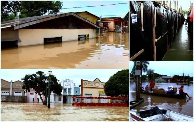 Cheia dos rios atingiu 7 municípios no Acre (Foto: Acre TV)
