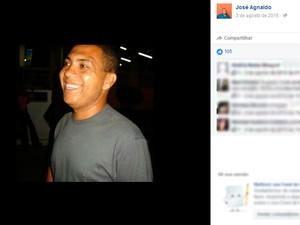 José Agnaldo foi achado morto com as mãos amarradas, em Santo Estêvão (Foto: Reprodução / Facebook)