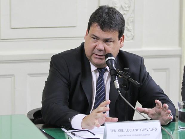 Luciano Carvalho de Souza, superintendente de grandes eventos, durante audiência pública na Alerj (Foto: Lucas Moritz/Alerj/Divulgação)