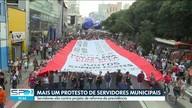 Funcionários públicos da cidade de São Paulo fizeram mais uma manifestação