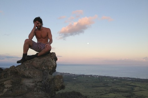 Felipe Abib no Havaí (Foto: Divulgação)