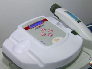 Aparelho desenvolvido na USP faz o tratamento de úlceras venosas em São Carlos (Foto: Reprodução/ EPTV)