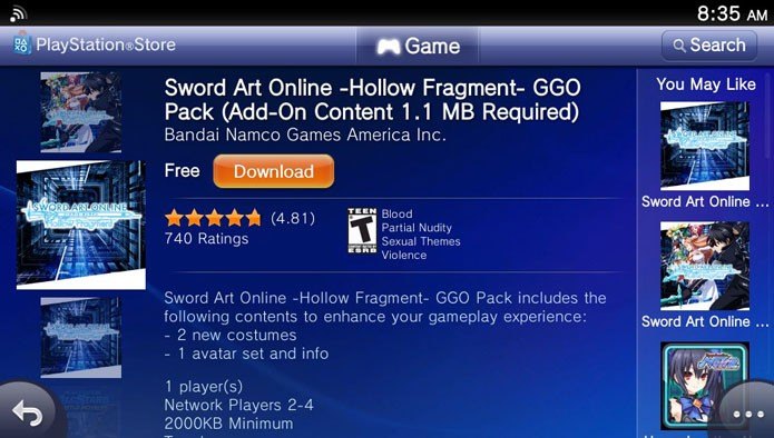 Como baixar itens de DLC em Sword Art Online: Hollow