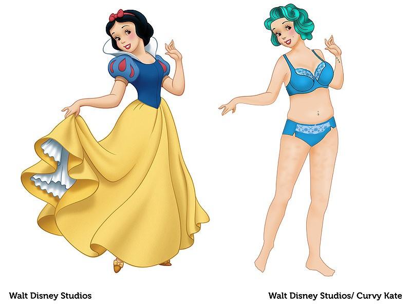 Branca de Neve reimaginada pela marca Curvy Kate (Foto: Divulgação)