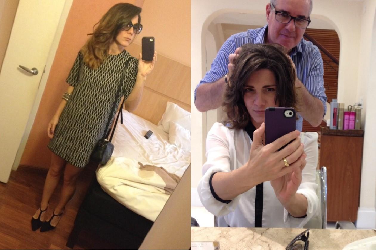 Antes e depois do look de Patrícia Simão (Foto: Arquivo Pessoal)