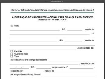 G1 Veja Modelo De Autorização Do Tjdf Para Viagens De