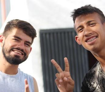 Jeremias e Nonato; altos  (Foto: Josiel Martins)