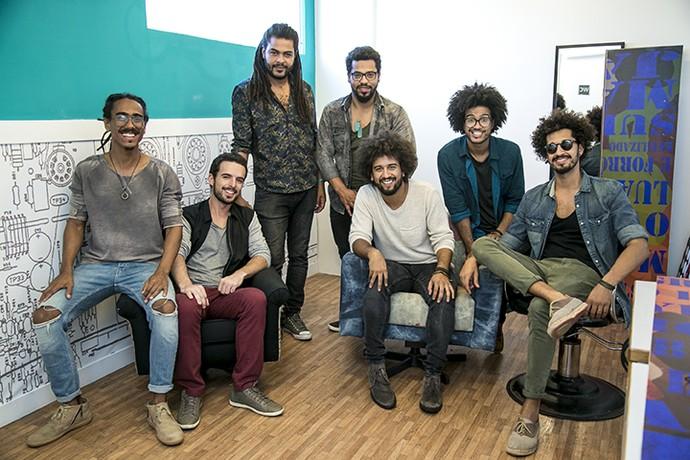 Luso Baião nos bastidores do 'SuperStar' (Foto: Isabella Pinheiro/SuperStar)