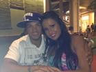 Gracyanne Barbosa e Belo jantam juntos