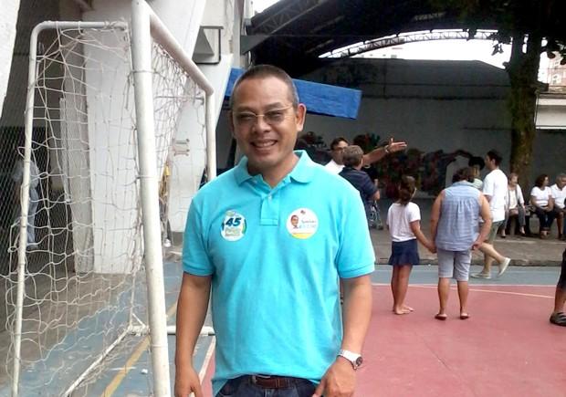 Sadao Nakai, vereador eleito com o maior número de votos em Santos, SP (Foto: Mônica Basile/G1)