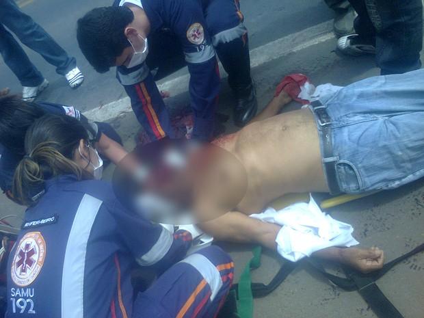 Vítima foi internado em estado grave de saúde. (Foto: Juliana Rocha / VC no G1)