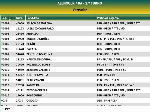 Vereadores Alenquer (Foto: Divulga/Reprodução)