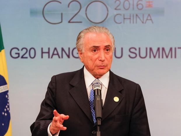 O presidente Michel Temer volta a comentar sobre atos de vandalismo em  protestos no Brasil durante f13319fa5f40