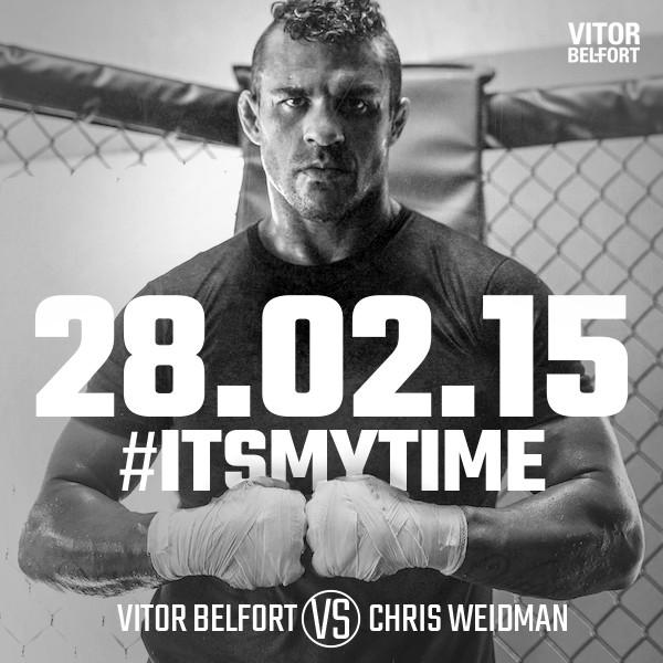 Vitor Belfort x Chris Weidman, MMA, UFC (Foto: Twitter)