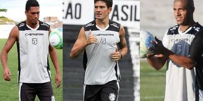 Charles Vágner (volante), Alison (zagueiro) e Leandrinho (meia) do Treze (Foto: Montagem / GloboEsporte.com)