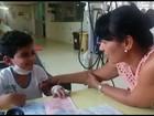 Menino de 7 anos que tem leucemia luta por transplante de medula