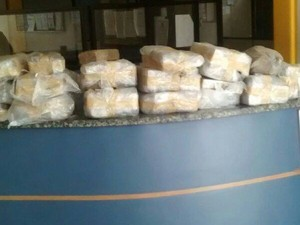 Mais de 79 quilos de maconha foram apreendidos (Foto: PM / Divulgação)