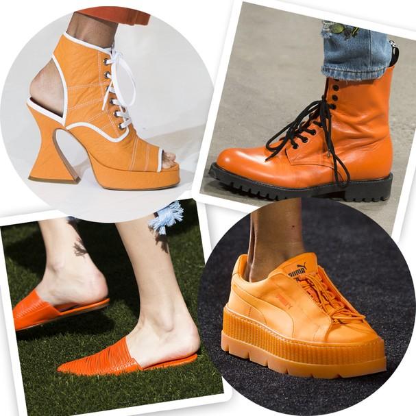 Sapatos das coleções verão 2018 de Sies Marjan, Jeremy Scott, Tory Burch e Fenty Puma by Rihanna (Foto: Imaxtree)