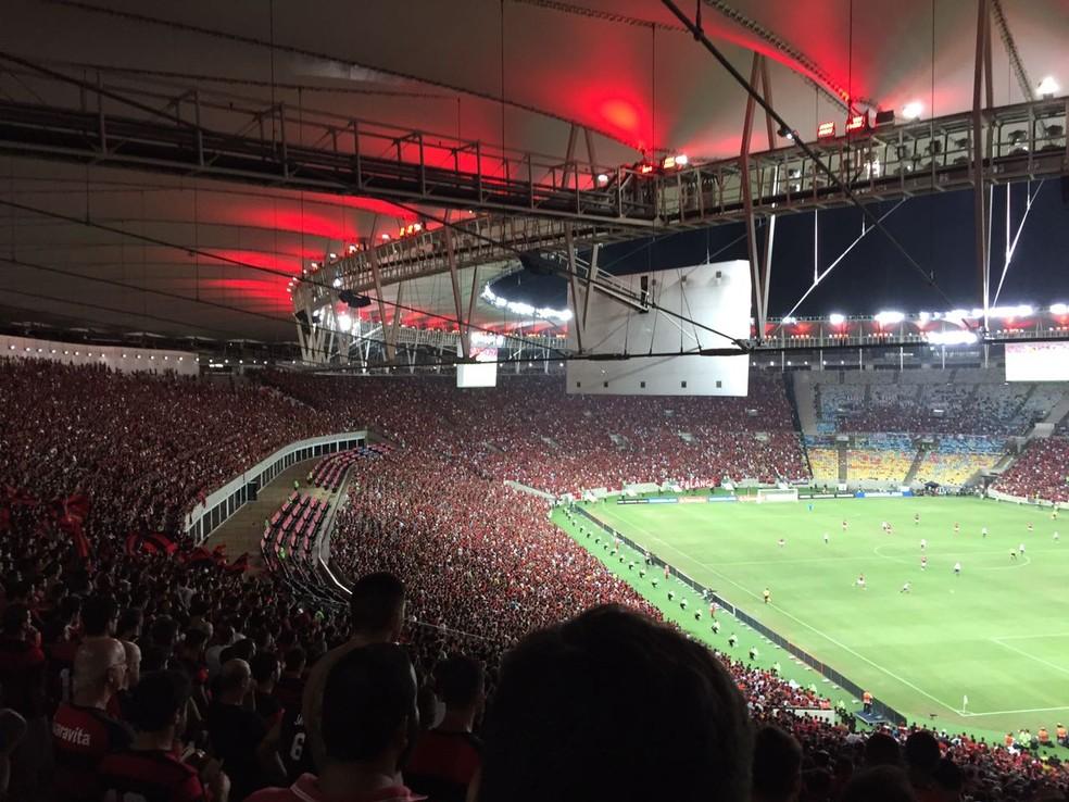 Jogos do Fla pela Libertadores no Maracanã garantiram boas rendas (Foto: Fred Gomes/GloboEsporte.com)