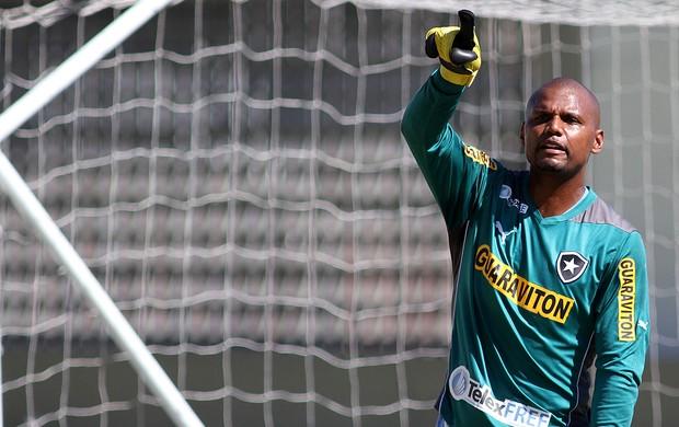 Jefferson no treino do Botafogo