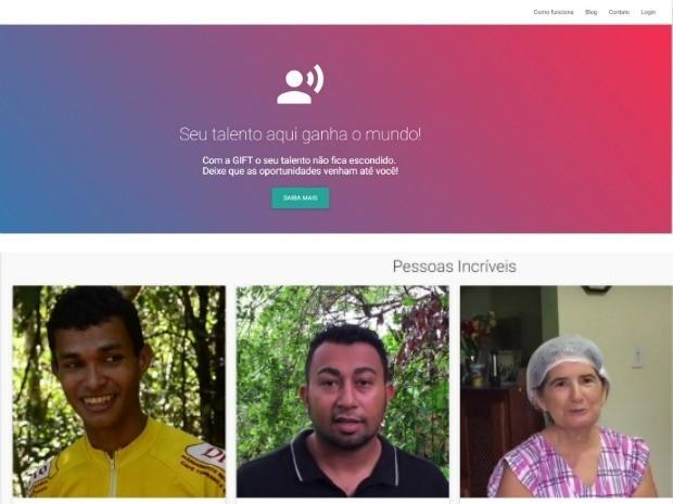 Site pretende divulgar talentos e criar pontes para quem precisa de uma oportunidade no mercado de trabalho (Foto: (Reprodução))