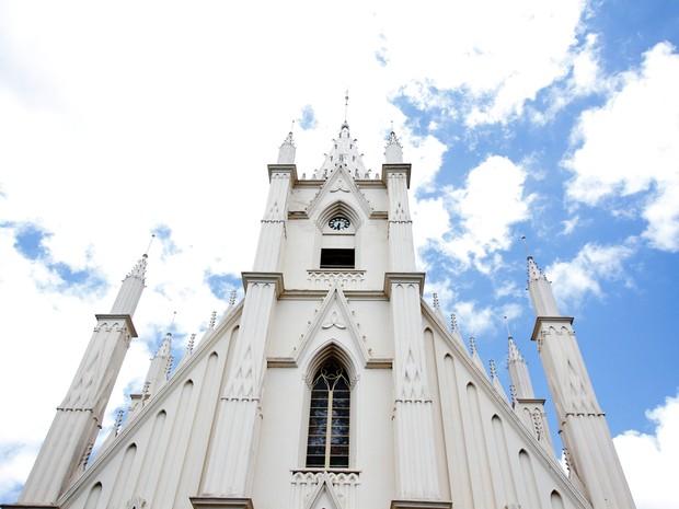 Raquel Marques registrou a arquitetura da Igreja Santa Terezinha (Foto: Raquel Marques)