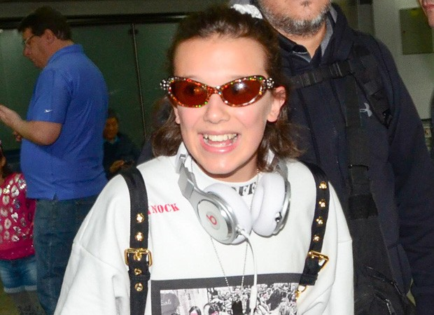 Millie Bobby Brown chega ao Brasil (Foto: Grosby Group)