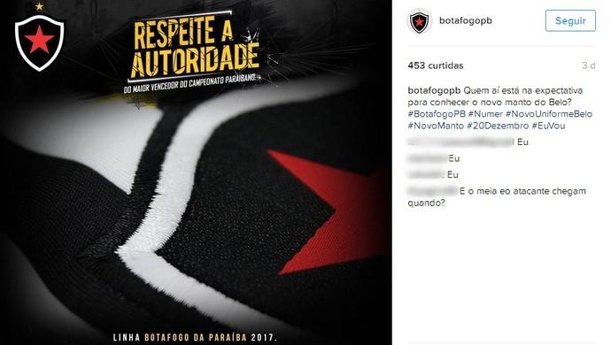 botafogo-pb, camisa (Foto: Divulgação / Botafogo-PB)
