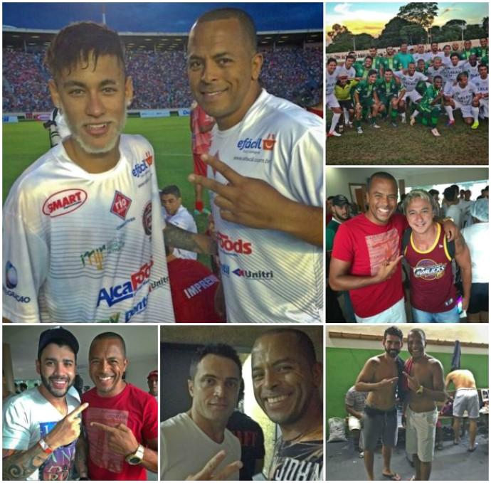 RN - Alecrim - André Neles, atacante - montagem Neymar, Falcão, Paulo Nunes, Gusttavo Lima, Radamés (Foto: Reprodução/Instagram)