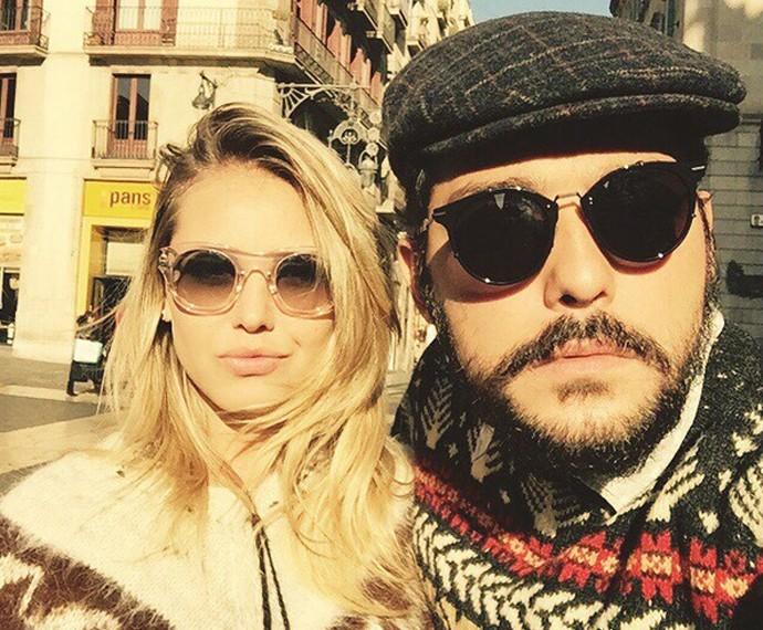 Louise e Eduardo durante viagem a Barcelona (Foto: Arquivo Pessoal)