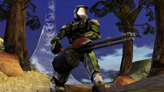 Halo no PlayStation 2 e Dreamcast teria sido um jogo de tiro em terceira pessoa (Foto: Reprodução/Gameswelt)