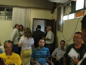 Reunião foi encerrada em 30 minutos (Foto: Valdivan Veloso/G1)