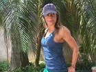Daniella Cicarelli mostra braços e pernas torneados em foto