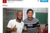 """Um dia depois de briga, Sport posta foto de Ronaldo e Mansur juntos: """"Paz"""""""