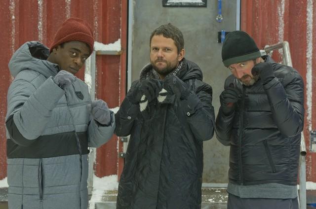 Seu Jorge, Selton Mello e Ralph Ineson no filme 'Soundtrack' (Foto: Mari Vianna)