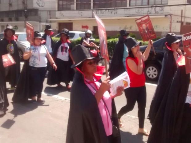 Protesto 'Fora Temer' em Vitória (Foto: Kaique Dias/ CBN)
