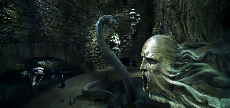 O basilisco aparece em 'Harry Potter e a Câmara Secreta' (Foto: Divulgação)