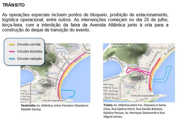Interdições olimpíadas (Foto: Reprodução/Prefeitura do Rio)