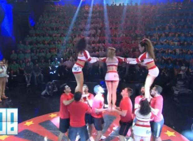 Cheerleaders, ou líderes de torcida, da Universidade Federal de São Carlos (UFSCar) (Foto: Reprodução/TV Globo)