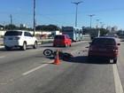 Motociclista fura blitz da PRF no Ceará e joga veículo contra policiais