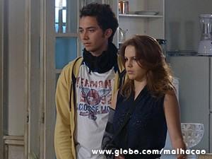Ben e Anita ficam chocados com a revelação (Foto: Malhação / TV Globo)
