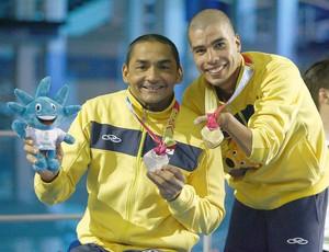 Francisco Avelino, nadador potiguar, e Daniel Dias disputam mesma categoria nas Paralimpíadas (Foto: Cleber Mendes/FOTOCOM.NET/CPB)