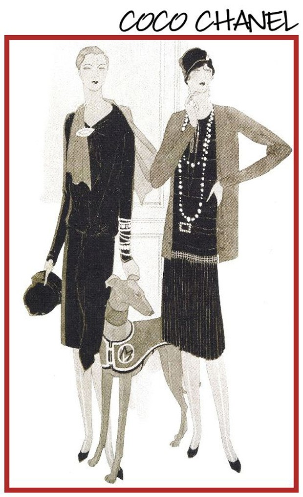 Ilustração publicada na Vogue América em 1927 (Foto: Reprodução)