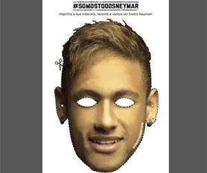 Site disponibiliza para download máscara com a foto de Neymar (Foto: Reprodução)
