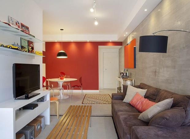 Funcional e moderno apartamento decorado em apenas 65 m u00b2 Casa e Jardim Decoraç u00e3o -> Decoração De Apartamentos Modernos E Pequenos