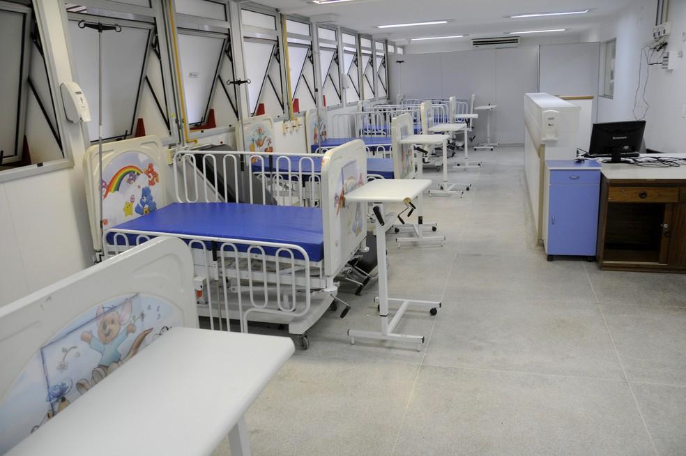 Berços da pediatria do Hospital Regional do Gama (HRG) (Foto: Secretaria de Saúde/Divulgação)