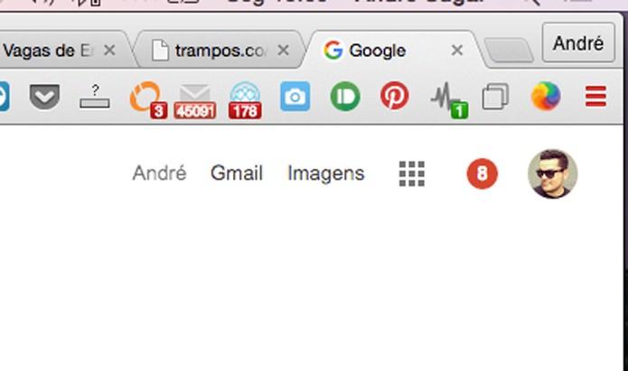 Extensão instalada no Google Chrome (Foto: Reprodução/André Sugai)