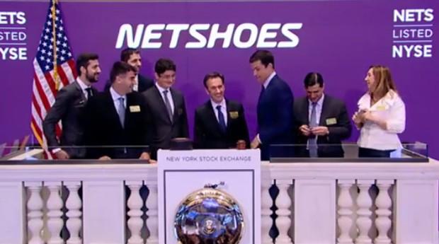 Netshoes entrou na NYSE. Márcio Kumruian, fundador e CEO da empresa, participou de cerimônia (Foto: Reprodução)